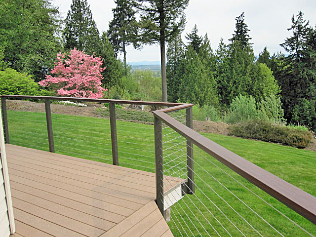 Stainless Cable Railing on Deck