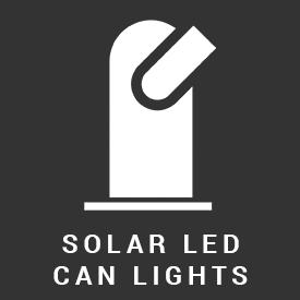 solar led can lights